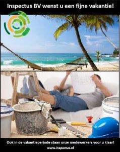 Inspectus BV wenst u een fijne vakantie toe